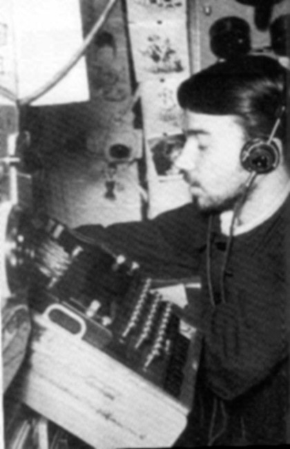 German Enigma machine in use on a Nazi U-boat