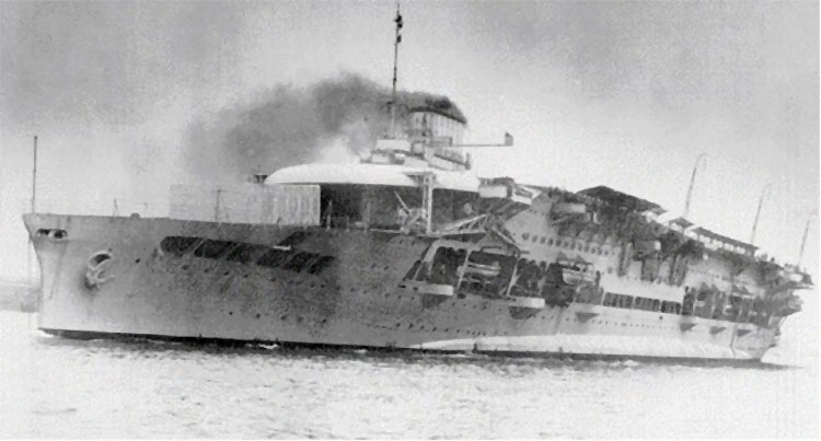 HMS Glorious shortly after conversion to aircraft carrier in March 1930