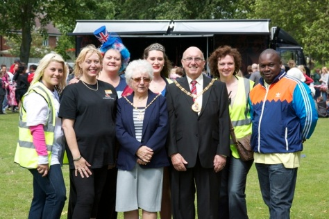 The Mayor Cllr Dennis Anson and Mayoress Mrs Kate Anson meets some of those who madThe Mayor Cllr Dennis Anson and Mayoress Mrs Kate Anson meet some of those who made it all happene it all happen