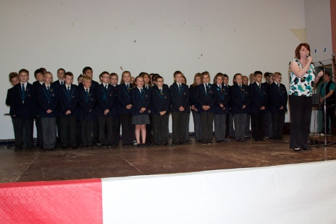 The wonderful voices of the junior choir from Mirus Academy on Beechdale Estate, Leamore filled the hall with songs from their new musical, 'Robin Hood' to great applause.