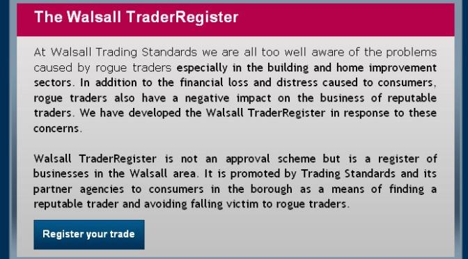 Walsall TraderRegister