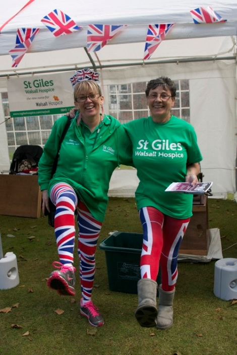 You put your right leg out on the St Giles Walsall Hospice stall