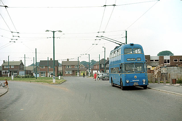 Bloxwich Trolleybus Terminus Lower Farm 1960s