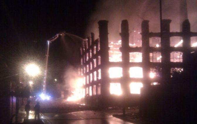 Burning Boak (courtesy Sgt John De Hayes @ResponseSgt)
