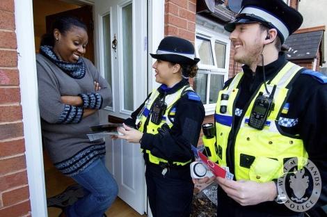 West Midlands Police - Modern crime prevention visit in Birmingham (courtesy WMP)