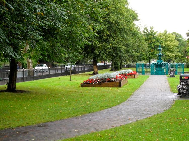 The leafy Bloxwich Promenade Gardens.
