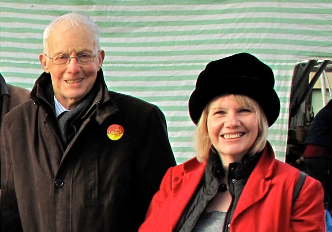 Cllr Sue Fletcher-Hall (right) with David Winnick MP