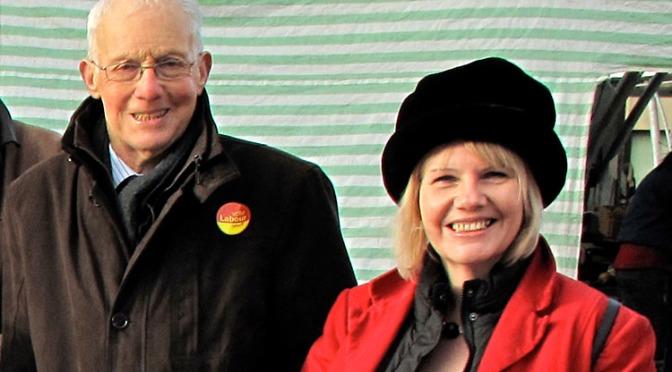 Cllr Sue Fletcher-Hall (right) with David Winnick MP