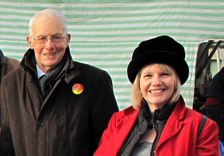 Cllr Sue Fletcher-Hall with David Winnick MP (pic by Stuart Williams)