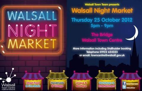 Lively night in prospect at new Walsall market tomorrow