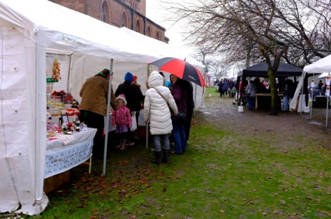 Numerous charity and craft stalls were showcased in All Saints' grounds.