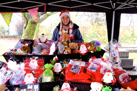 Heidi Summersby - holding a Bloxwich Lion - had been amazingly busy on her craft stall
