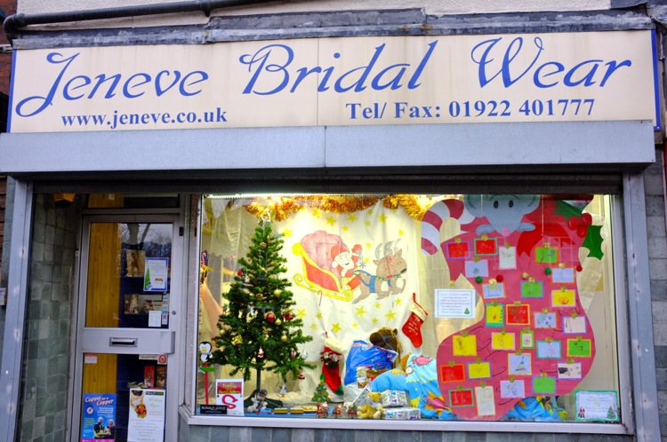 Jeneve Bridal Wear's festive entry in the Best-dressed Shop Window competition.