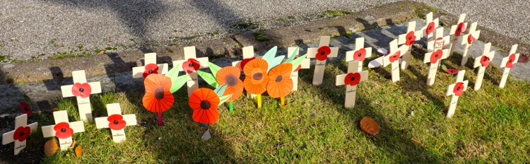 'In Flanders fields the poppies blow, Between the crosses, row on row...'