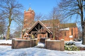 Snowy All Saints Church, Bloxwich.