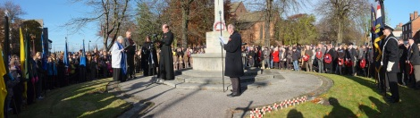 The Remembrance Sunday service at Bloxwich War Memorial 2012 (click for full panoramic image)