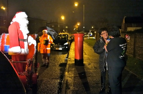 All smiles as Father Christmas rolls into Buxton Rd