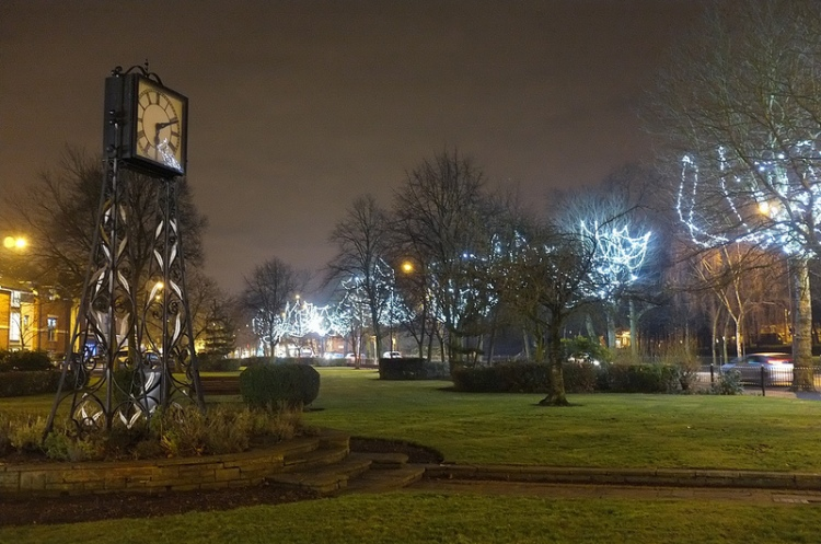 And Pat Collins' Memorial Clock in the northern Promenade Gardens marks time as it views the spectacle