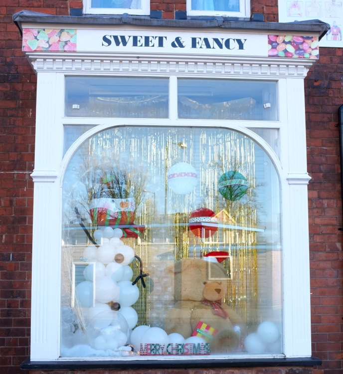 Another stylish festive window by Sweet & Fancy, Park Road - joint 2nd.