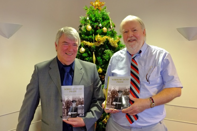 Barry Crutchley (left) and Ken Wayman with their new book
