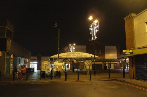 Bloxwich Market Place boasts its own modest but attractive lights