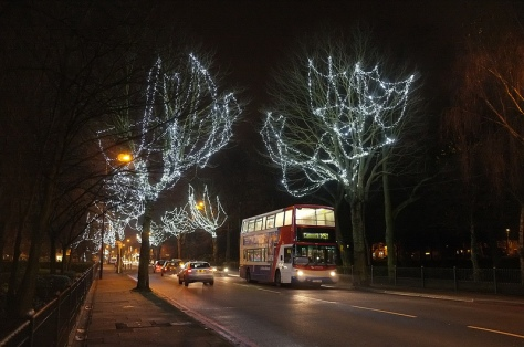 Childhood recollections of trips to the 'Blocko Lights' on a trolleybus spring to mind as a double-decker speeds northwards