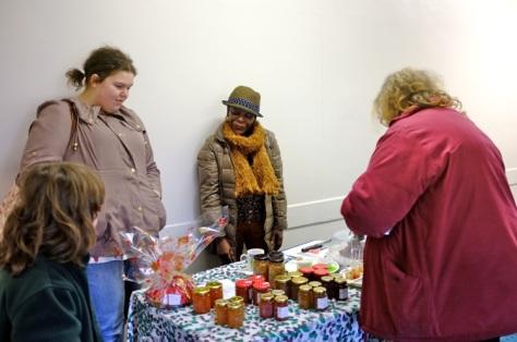 Jams and ginger cake stall