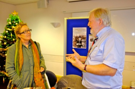 Ken Wayman talks to Elmore Green Primary School head Jane Humphreys about the book