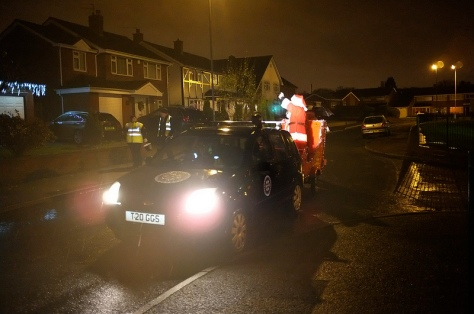 Santa lands in Bamford Rd