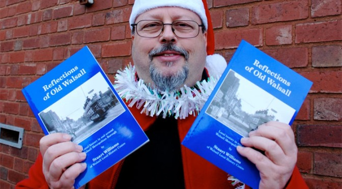 Stuart Williams with the new book Reflections of Old Walsall