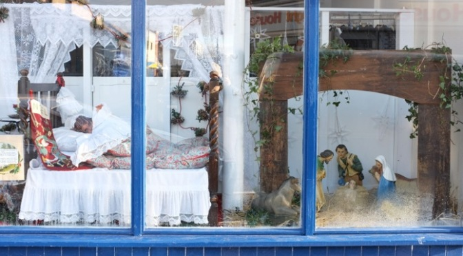 The winning Christmas window by the LIFE charity shop
