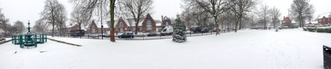 A stunning panorama of Bloxwich Promenade Gardens under snow - click to enlarge
