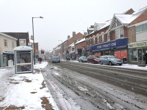 Despite blizzard conditions Bloxwich was open for business