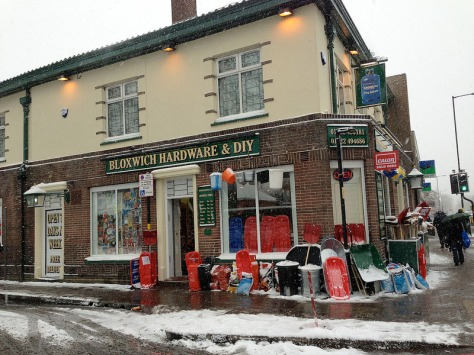 Enterprising Bloxwich Hardware and DIY sell sledges and shovels