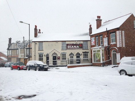 Park Rd looking scenic - but when will Wetherspoon's get their finger out?