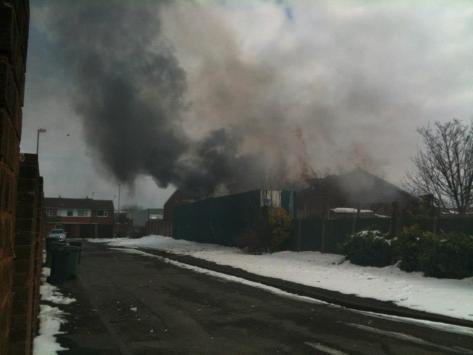 Fire at DF Jones