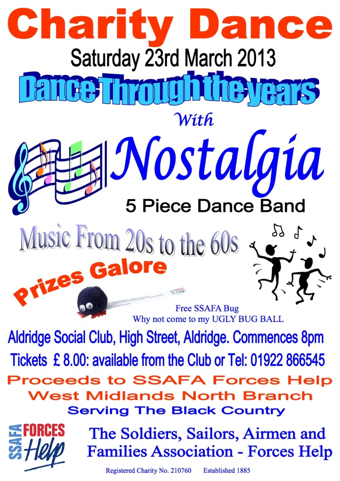SSAFA Dance Poster
