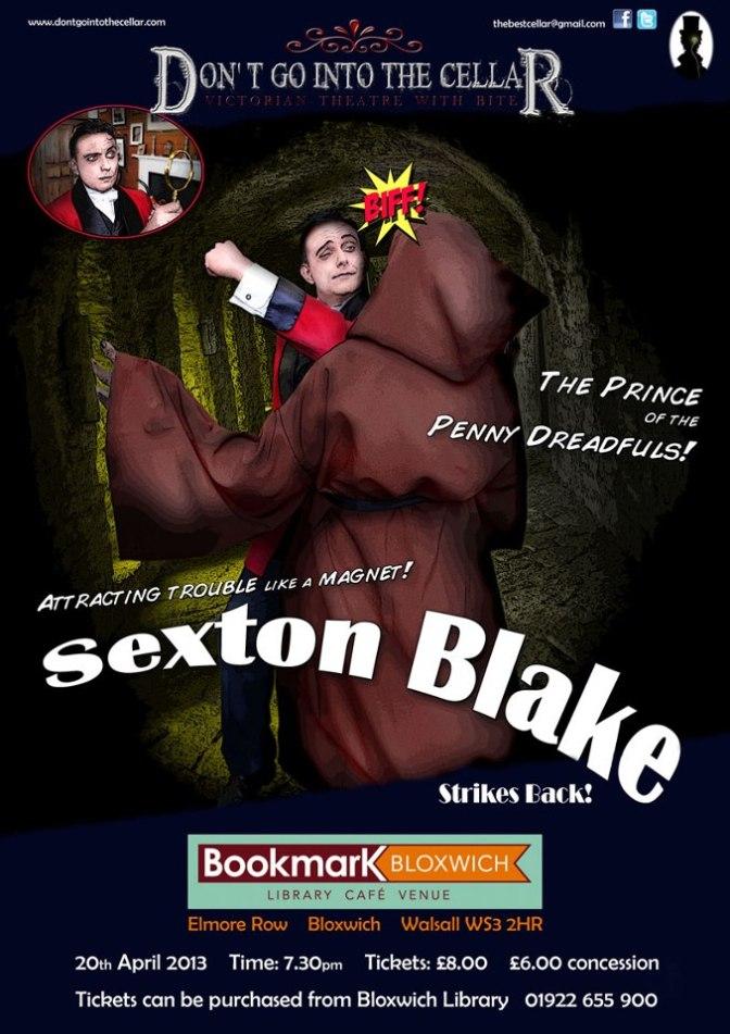Sexton Blake Strikes Back – at Bookmark Bloxwich Theatre!