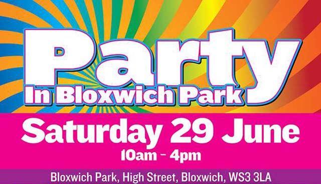 Get ready to party in Bloxwich Park this Saturday!