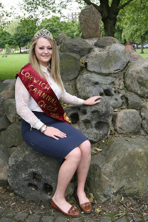 2012 Bloxwich Carnival Queen Alice Jones took time out to rediscover the Bloxwich Anvil Stones