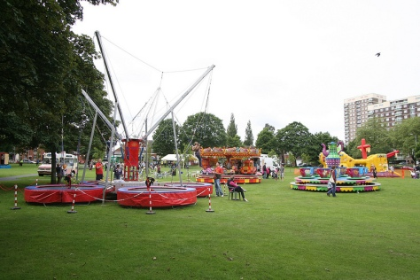 A ton of fun with rides, inflatables and bungee bouncing! (Attractions may differ. Past event pic Stuart Williams)