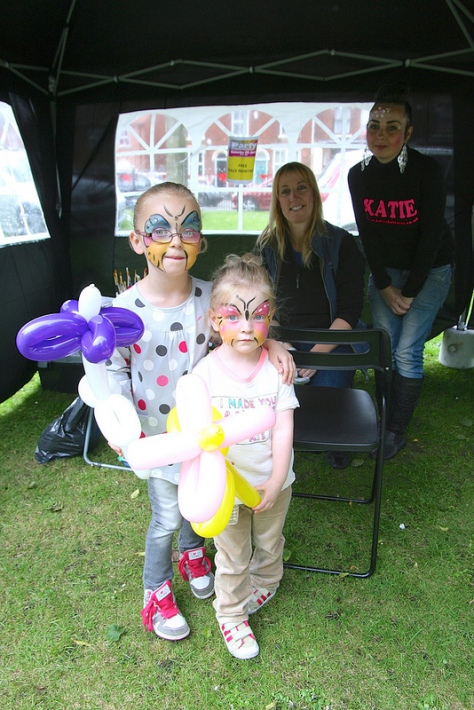 Pretty as a picture in the facepainting tent!