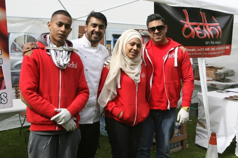 The friendly staff of the Delhi takeaway in Bloxwich were serving up some hot stuff to party-goers!