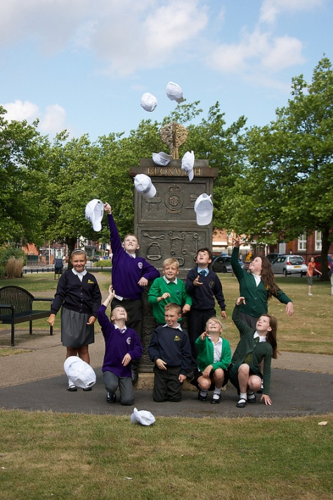 The young Bloxwich Canival Ambassadors for 2013 have fun at the Bloxwich Tardis!