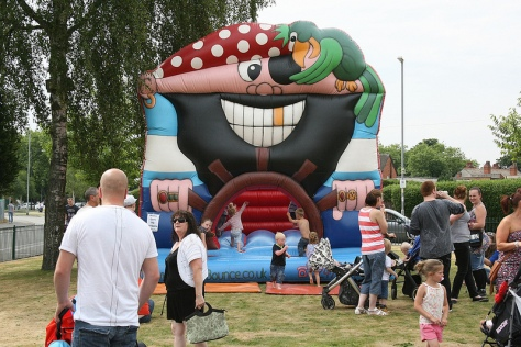 Ahaar, it be a bouncy castle me hearties!