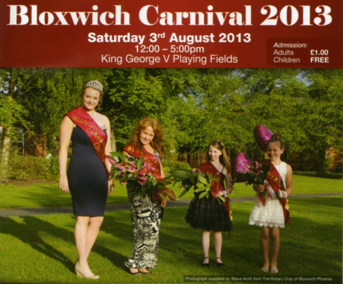 It's Bloxwich Carnival time tomorrow!