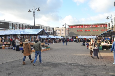 The current, rather careworn Walsall Market square (pic: Stuart Williams)