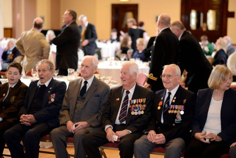 Veterans and guests await the presentation (pic courtesy Ed Bagnall)