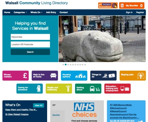 Walsall Community Living Directory