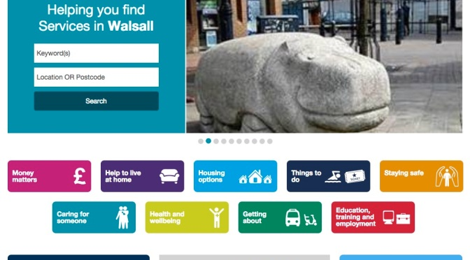 Click and care online in Walsall